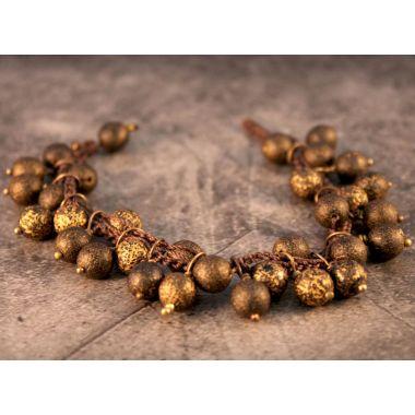 Golden Etched Bracelets