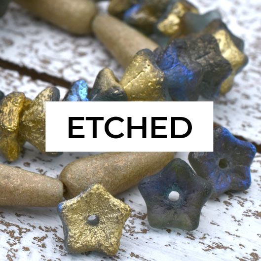 Etched Finish Beads