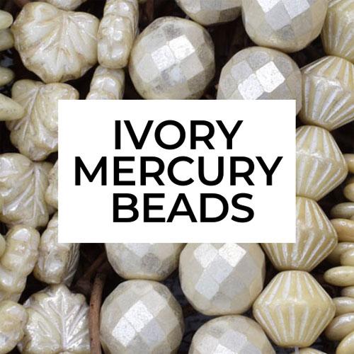 Ivory Mercury Beads