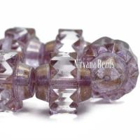 13x15mm Crown Transparent Glass with Thistle and Bronze Finishes