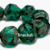 8mm Baroque Beads Emerald with Picasso Finish