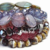 MIX Loose Strands - Czech Glass - Purple, Pink
