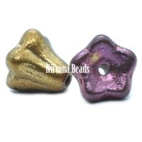 5x6mm Bell Flowers Metallic Mix