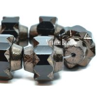 13x15mm Crown Black with a Bronze Finish