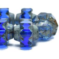13x15mm Crown Sapphire with a Picasso Finish