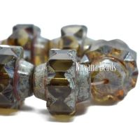 13x15mm Crown Olive with a Picasso Finish