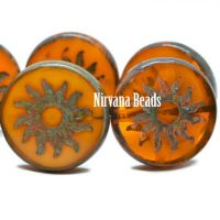 22mm Sun Coin Pumpkin with a Picasso Finish