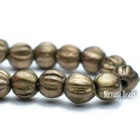 4mm Melon Antique Brass