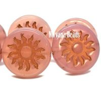22mm Sun Coin Dusty Rose with a Copper Wash