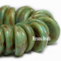 4x8mm Piggy Bead Fern with Picasso Finish