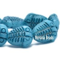 10x13mm Trilobite Teal Blue with a Black Wash