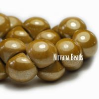 9x8mm Mushroom Button Beads Y. Mustard