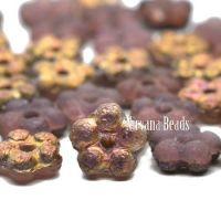 5mm Forget-Me-Not Spacers Rosewood with Etched and Rainbow Copper Finishes