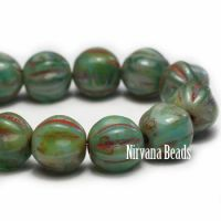 6mm Melon Green with Picasso Finish