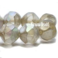 9mm Baroque Beads Transparent Glass with An Antique Silver Finish and AB Finish