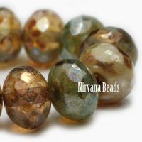 6x8mm Rondelle Champagne Mix with Picasso Finish