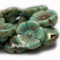 12mm Button Flower Fern with a Picasso Finish