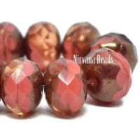 8x6mm Rondelle Coral with a Bronze Finish