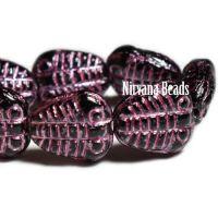 10x13mm Trilobite Black with a Metallic Pink Wash