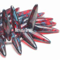 4x15mm Thorn Ruby Red with Picasso Finish