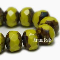 5x7mm Rondelle Peridot with Picasso Finish