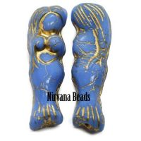 5x25mm Mermaid Periwinkle with Bronze Wash