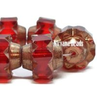 13x15mm Crown Ruby Red with a Bronze Finish