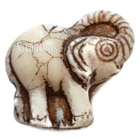 20x23mm Elephant Ivory with a Bronze Wash