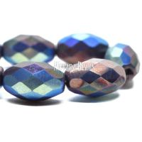 12x8mm Faceted Oval Bronze with An AB Finish