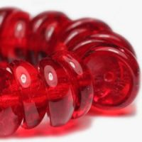 4x8mm Piggy Bead Red