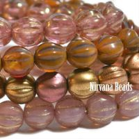 6mm Melon Metallic Mix Compliments Collection