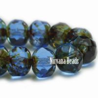 7x5mm Rondelle Beads BE. Sapphire blue