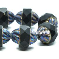 11x10mm Turbine Black with Blue Iris Finish