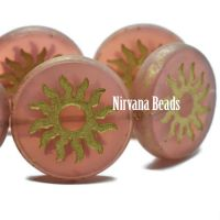 22mm Sun Coin Matte Rosewood with a Gold Wash - Table Cut