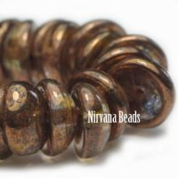 4x8mm Piggy Bead Transparent with Copper Finish