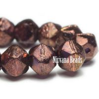 8mm English Cut Bronze with a Purple Luster