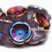 12mm Button Flower Thistle with a Metallic Purple Finish