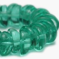 8mm Piggy Beads GN. Emerald