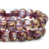4x3mm Trica Boysenberry with Bronze Finish