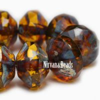 7x11mm Saucer Amber with Picasso Finish