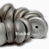 4x8mm Piggy Bead Matte Silver