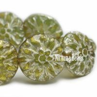 14mm Dahlia Avocado with Mercury Finish