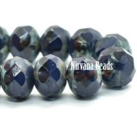 5x7mm Rondelle Blue Violet with a Picasso Finish