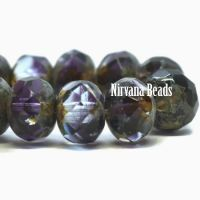7x5mm Rondelle Purple Pansy and Grape with Picasso Finish