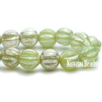 4mm Melon Moss Green with Mercury Finish