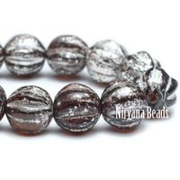 6mm Melon Chocolate with Mercury Finish