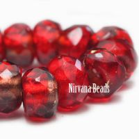 6x9mm Roller Beads R. Red Wine