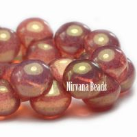 9x8mm Mushroom Button Beads PK. Opal pink