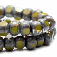 3x4mm Trica Avocado with Picasso Finish