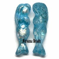 5x25mm Mermaid Malibu Blue with Etched and AB Finish